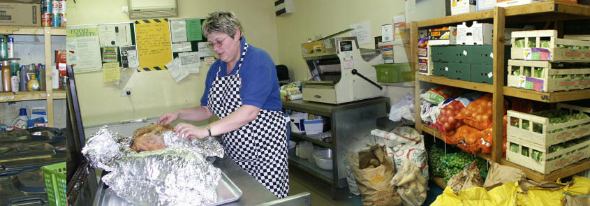 Volunteering to work at Caring at Christmas in the kitchen